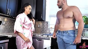 Busty Lusty Housewife Milf Cleans the Plumbers Pipes