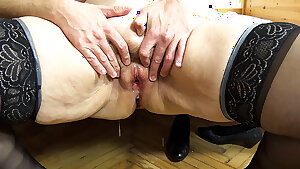 ugly 79 years old mom first creampie
