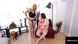 Humungous Melons, Maggie Green's Cunny Satisfied By Big Nina Kayy