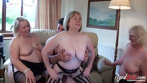 AgedLovE, Group of Matures Has Hard Rough Fuck-fest Action