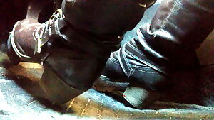 Pedal pumping and cranking in my boots, close up angle TEASER