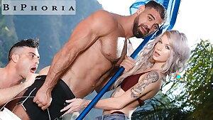 BiPhoria - Wifey Catches Spouse Fucking The Pool Boy
