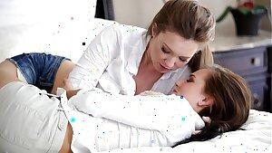 Nubile Films - Lesbian lovers savor saucy cootchie cream