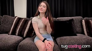 Petite Megan Marx Cum Begging Facial cumshot At Faux Casting