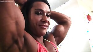 Pro Girl Bodybuilder Poses and Shows Off Her Physique
