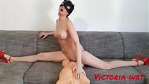Victoria Wet torso dildo in twine