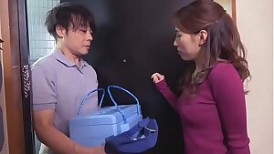 japanese mom seduces the delivery guy