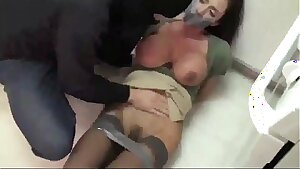 Ultra Hot Milf  Tied Up and Porked by a Burglar