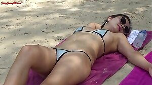 jennymarie showing off at the beach