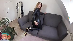 German mom takes fuckpole in the donk pov