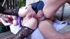 Kinky Canadian MILF Shanda Fay Gets Fucked In Her Backyard!