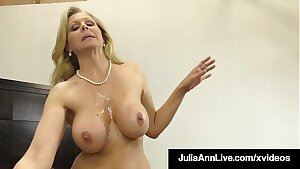Dick Sucking Mummy Julia Ann Sucks & Strokes Lucky Cock!