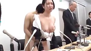 Asian wifey undressed,apologized on stage,humiliated beside her husband 01 of 02