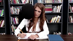 Scorching Schoolgirl Dillion Carter Fucked in the Library