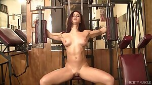 Sexy Fit Redhead with a Magnificent Ass and Huge Clit Masturbates