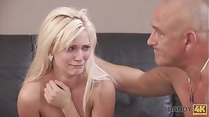 DADDY4K. Horny blondie wants to try someone tiny bit more experienced