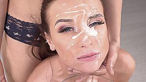 Vinna Reed & Amateur Camille Oceana flooded with spunk
