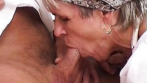 73 yr old farmer's mummy needs rough sex