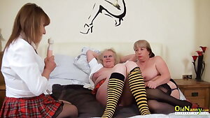 OldNannY British Mature Ladies Get Honeypot Treatment