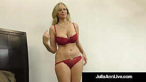 Titty Smashing Cougar Julia Ann Mouth, Booby & Hand Drills Dick!