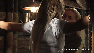 Lesbian Schoolgirl In Uniform Trussed Up And Turned Into Slave