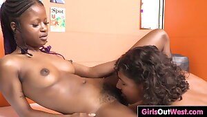 Exotic hairy lesbians enjoy pussy licking and rimming