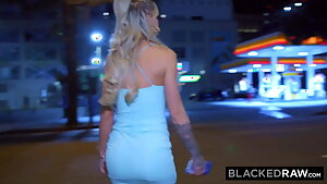 BLACKEDRAW She forgot about her white boyfriend for a night