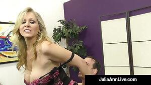 Muddy Talking Commanding Cougar Julia Ann Orders Her BoyToy!
