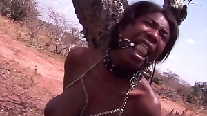 Ebony Girl Outdoor Public Humiliation